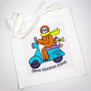Choose Adventure Always Poly Canvas Tote Bag