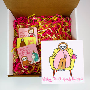 Make Your Own Wishing You A Speedy Recovery Sloth Care Package