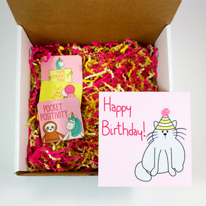 Make Your Own Happy Birthday Cat Care Package