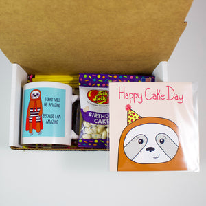 The Birthday Sloth Mug Care Package