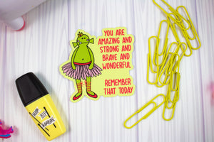 Happy (E)Mail Shop: Ballerina Monster - Weather and Water Proof Vinyl Sticker