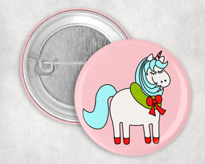 "Magic Holiday Unicorn 1.75"" Pin"