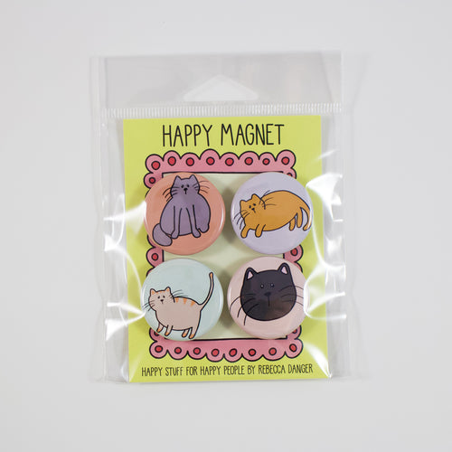 Happy Cats Magnet Set #1