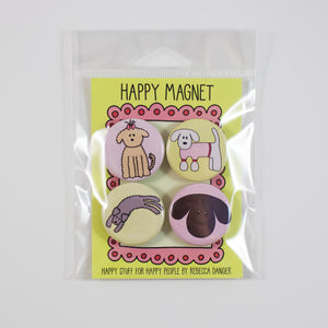 Happy Fluffy Dogs Magnet Set #2