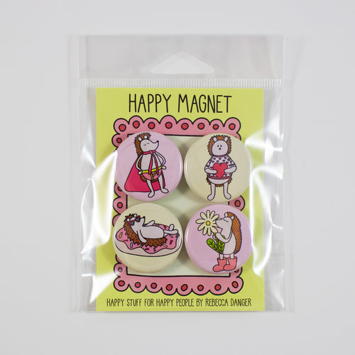 Happy Hedgehogs Magnet Set