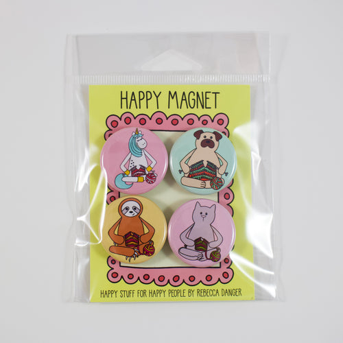 Happy Knitting Animals Magnet Set