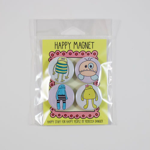 Happy Monsters Magnet Set