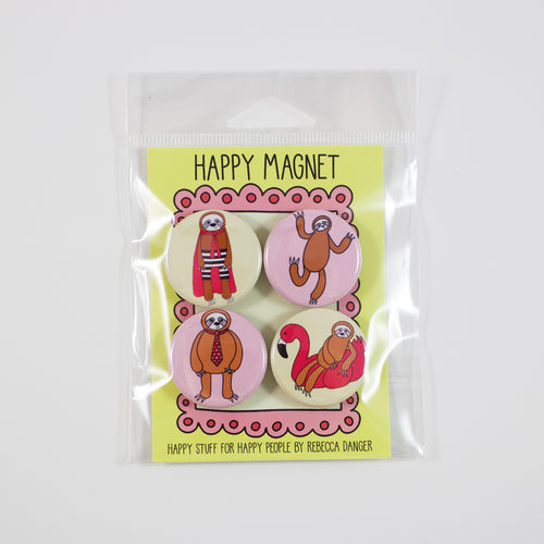 Happy Sloths Magnet Set