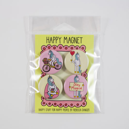 Happy Unicorns Magnet Set