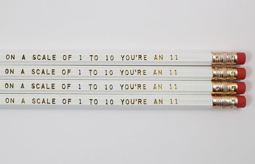Set Of 4 On A Scale Of 1 to 10 You're An 11 Pencils