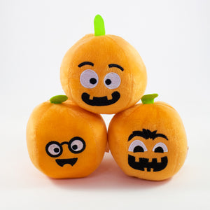 Happy Plush Pumpkin (Faces Vary)