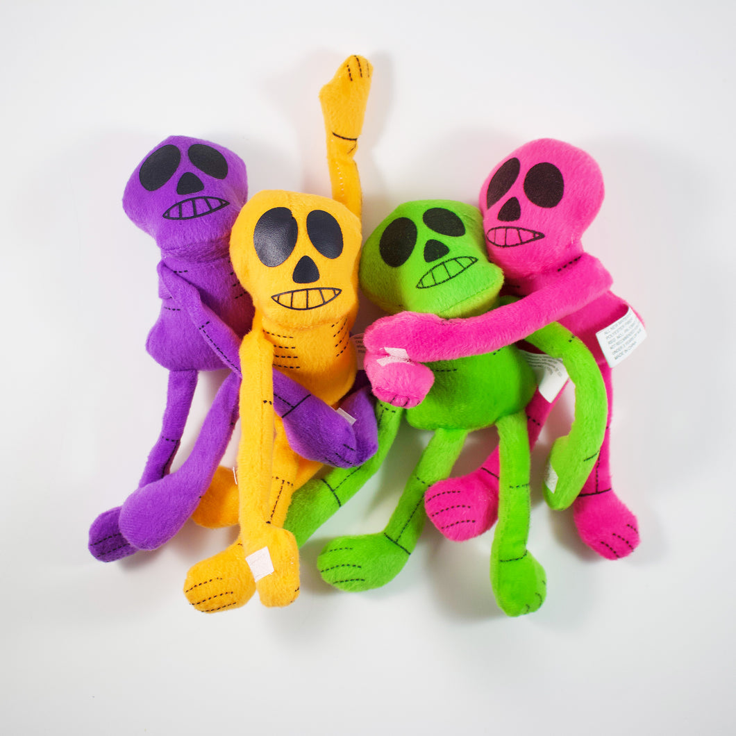 Rainbow Skeleton Plush With Velcro Hands (Colors Vary)