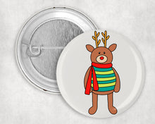 "Load image into Gallery viewer, Shine Reindeer 1.75"" Pin"