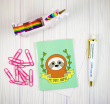Load image into Gallery viewer, My Spirit Animal Sloth Blank Greeting Card