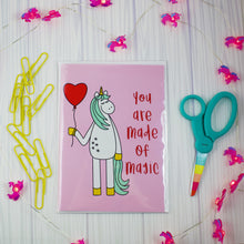 Load image into Gallery viewer, You Are Made Of Magic Unicorn Blank Greeting Card