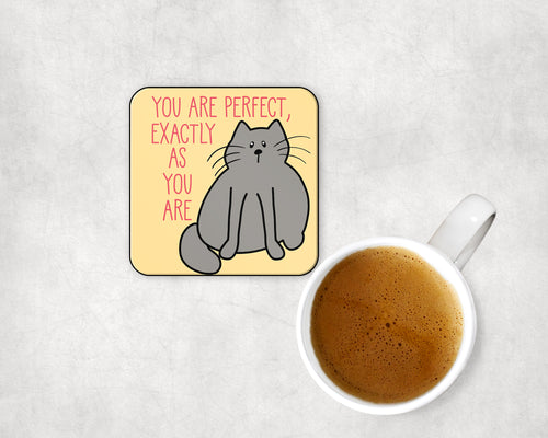 You Are Perfect Exactly As You Are Cat Coaster