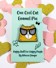 Load image into Gallery viewer, Cool Cat Enamel Pin