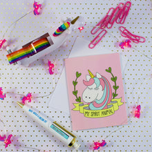 Load image into Gallery viewer, My Spirit Animal Unicorn Blank Greeting Card