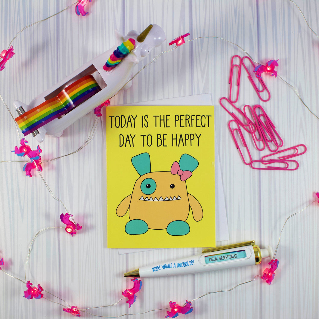 Penelope Monster Blank Greeting Card
