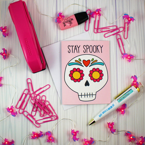 Stay Spooky Happy Halloween Blank Greeting Card