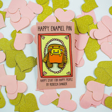 Load image into Gallery viewer, Daphne and Delilah Monsters ORANGE Hard Enamel Pin