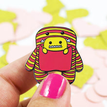 Load image into Gallery viewer, Daphne and Delilah Monsters PINK Hard Enamel Pin