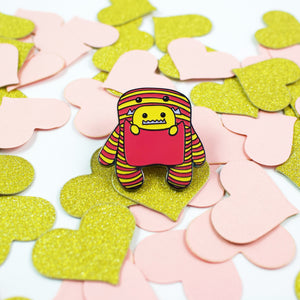 Daphne and Delilah Monsters PINK Hard Enamel Pin