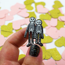 Load image into Gallery viewer, Creep It Real Skeletons Enamel Pin