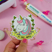 Load image into Gallery viewer, My Spirit Animal Unicorn Water and Weather Proof Vinyl Sticker