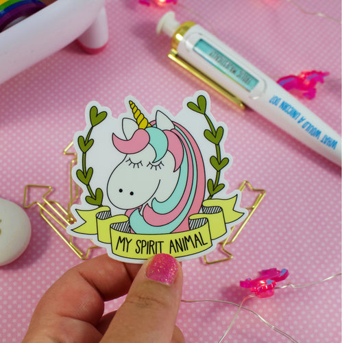 My Spirit Animal Unicorn Water and Weather Proof Vinyl Sticker