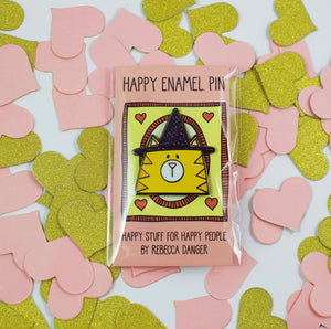 Witch Please Happy Halloween Cat In A Witch Hat Hard Enamel Pin