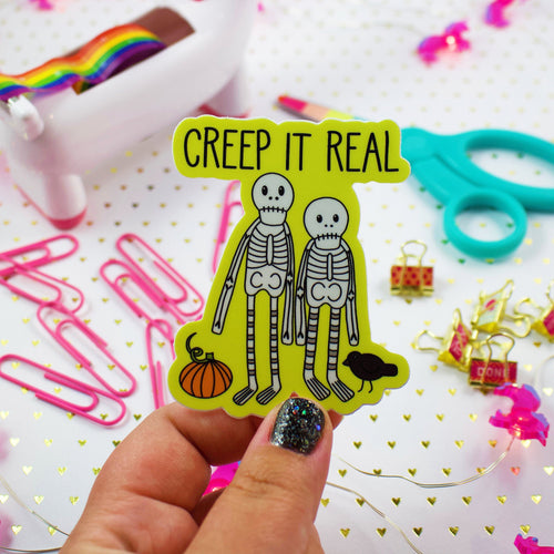 Creep It Real Skeletons Weather and Water Proof Vinyl Sticker
