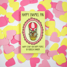 Load image into Gallery viewer, Hot Air Balloon Hedgies in Pink Hard Enamel Pin