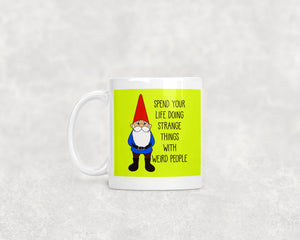 Happy Garden Gnome Ceramic 11oz Mug