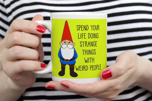 Happy Garden Gnome Ceramic Mug
