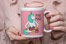 Load image into Gallery viewer, Knitting Unicorn Ceramic 11oz Mug