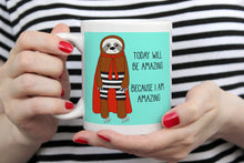 Load image into Gallery viewer, Superhero Sloth 11oz Or 15oz Mug