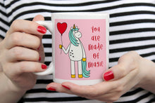 Load image into Gallery viewer, Made Of Magic Unicorn Ceramic 11oz Mug