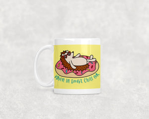 When In Doubt Chill Out Hedgie Ceramic 11oz Mug