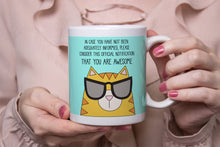 Load image into Gallery viewer, Cat In Sunglasses Ceramic 11oz Mug