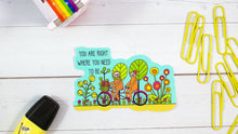 "Load image into Gallery viewer, Tandem Bike Sloths Larger 4"" Vinyl Sticker  - Water And Weather Proof!"