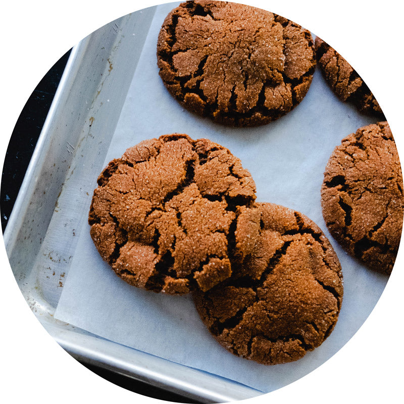 Ginger Molasses Cookies (Vegan)
