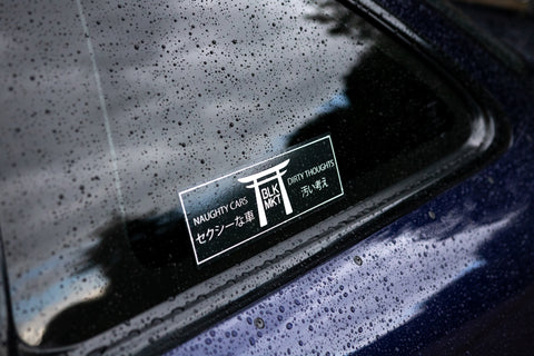 NAUGHTY CARS SLAP DECAL