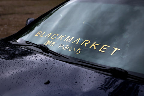 750mm BLACKMARKET BANNER DECAL