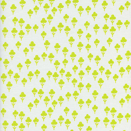 Cotton & Steel - Front Yard - Clovers - Yellow