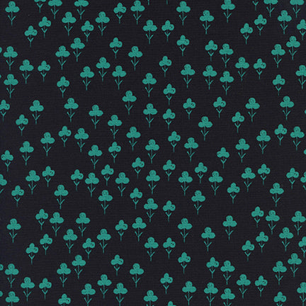 Cotton & Steel - Front Yard - Clovers - Teal