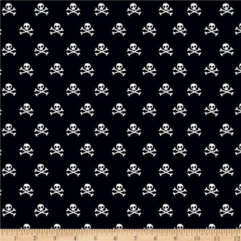 Riley Blake - Military Max - Skulls - Black