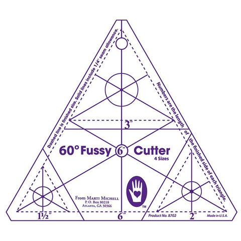 60-degree Fussy Cutter Template - Marti Michell