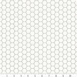Riley Blake - Lori Holt - Bee Backgrounds - Honeycomb - Gray