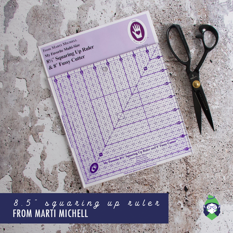 "8.5"" Squaring Up Ruler + 8"" Fussy Cutter - Marti Michell"